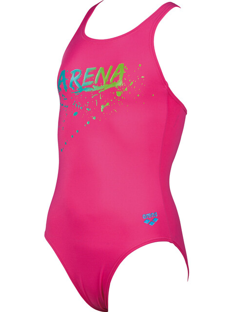 arena Gengi One Piece Swimsuit Girls fresia rose-turquoise